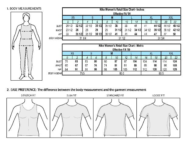 Nike Kids' Clothing Size & Fit Guide.